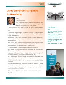 Cercle Gouvernance & Equilibre E– Newsletter