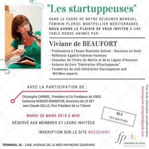 Lancement du Club Génération #Startuppeuse avec Féminin Pluriel Montpellier